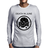 Death In June Skull Black Punk Rock. Mens Long Sleeve T-Shirt