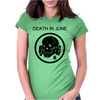 Death In June Skull Black Punk Rock. Womens Fitted T-Shirt