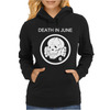 Death In June Skull Black Punk Rock Womens Hoodie