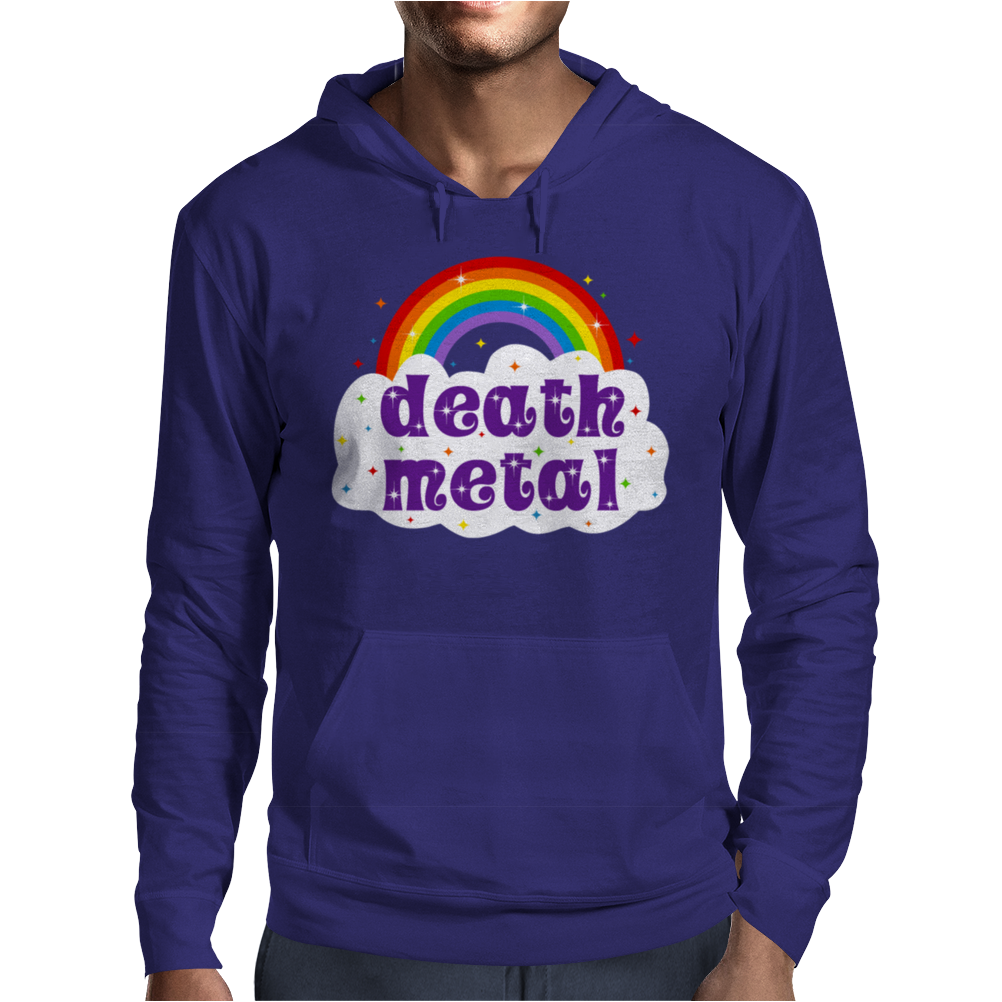 Death Metal Music Heavy Unicorn Rainbow Funny Mens Hoodie