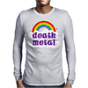 Death Metal Music Heavy Unicorn Rainbow Funny Mens Long Sleeve T-Shirt