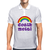 Death Metal Music Heavy Unicorn Rainbow Funny Mens Polo