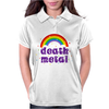 Death Metal Music Heavy Unicorn Rainbow Funny Womens Polo