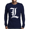 Death Note L Mens Long Sleeve T-Shirt