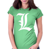 Death Note L Womens Fitted T-Shirt