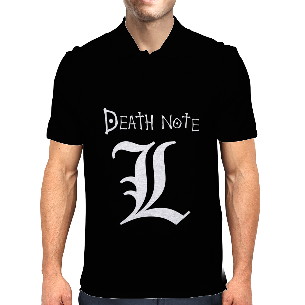Death Note Manga Fumetti Comics Mens Polo