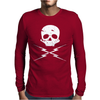 Death Proof Skull Mens Long Sleeve T-Shirt