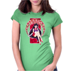 Deep Red Womens Fitted T-Shirt