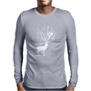 Deer and Bird Mens Long Sleeve T-Shirt