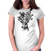 Deer-Birds Womens Fitted T-Shirt