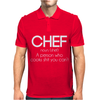 Definition of a Chef - Funny Mens Polo