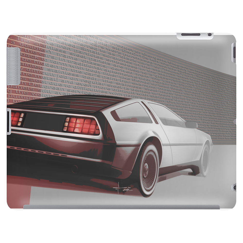 DeLorean History Tablet (horizontal)