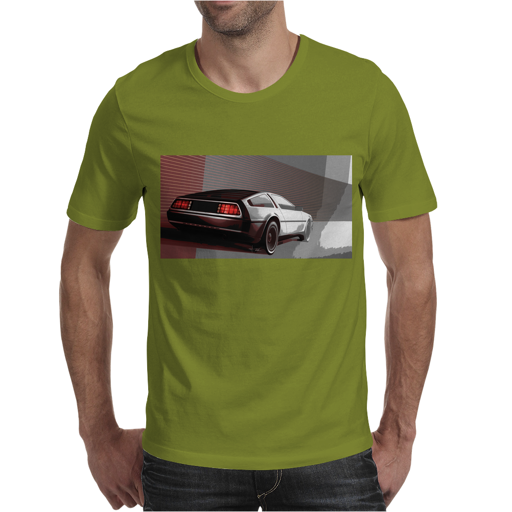 DeLorean_art Mens T-Shirt