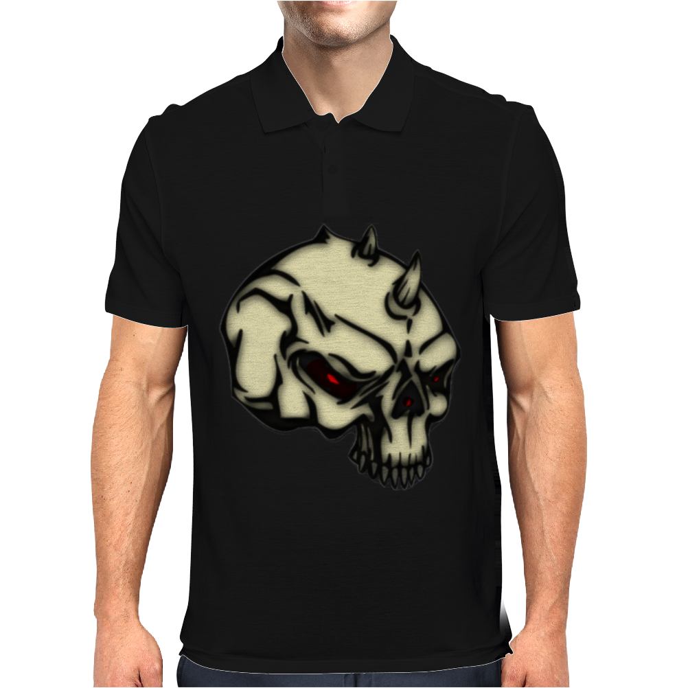 demon skull Mens Polo