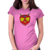 Demon Skull Womens Fitted T-Shirt