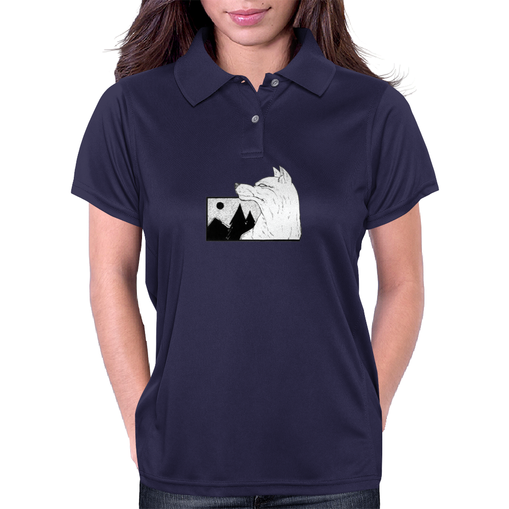 Demon Wolf Womens Polo