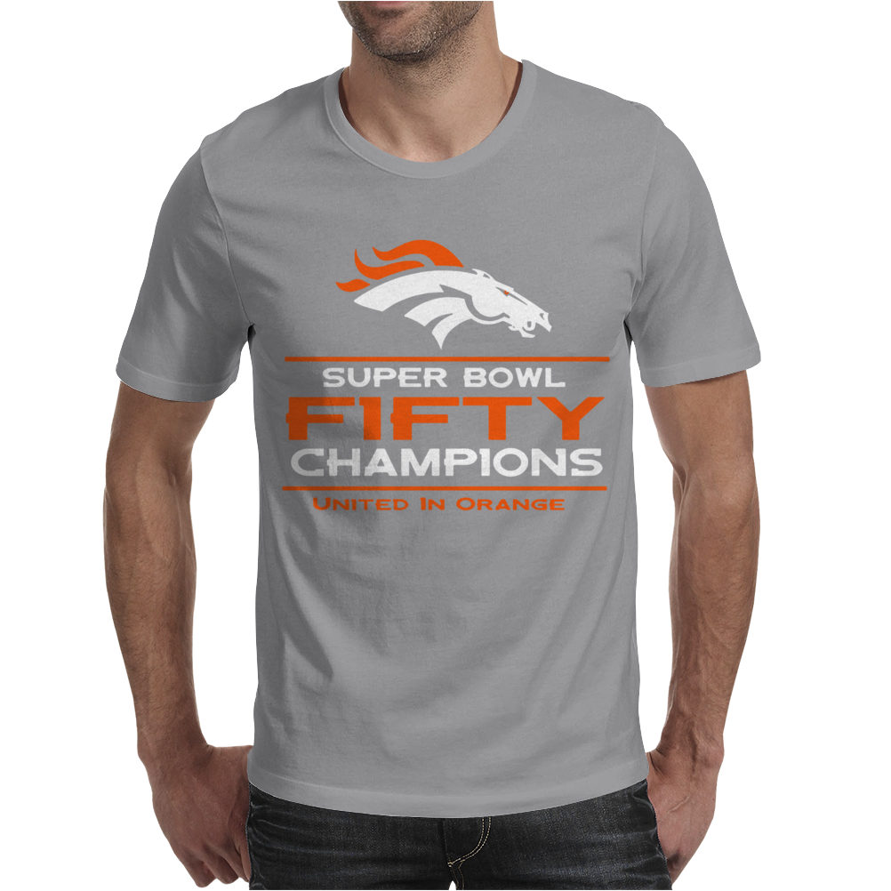 Denver Broncos Super Bowl 50 Fifty Champions Mens T-Shirt