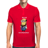 Despicable Just Thinking Minion T-Shirt Funny Cool Geek Free Shipping Gildan Mens Polo