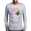 DESPICABLE ME 2 ONE EYE GOTS MAD MINION SKILLS WOMENS Mens Long Sleeve T-Shirt