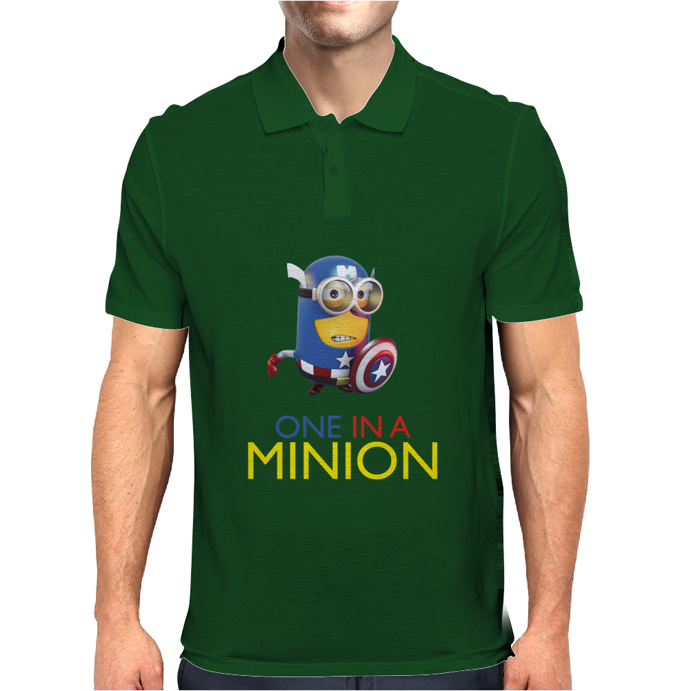 Despicable Me 2 One in a Minion America Hitman T-Shirt Movie Men Mens Polo