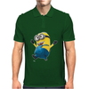 Despicable Me 2 Strolling Minion Movie Licensed Adult Mens Polo