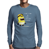Despicable Me Lose My Mind Minion Mens Long Sleeve T-Shirt