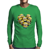 Despicable Me Minion Heart Mens Long Sleeve T-Shirt