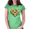 Despicable Me Minion Heart Womens Fitted T-Shirt