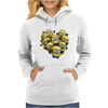 Despicable Me Minion Heart Womens Hoodie