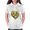 Despicable Me Minion Heart Womens Polo