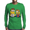 Despicable Me Minion Messi Ronaldo Mens Long Sleeve T-Shirt