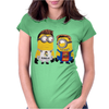 Despicable Me Minion Messi Ronaldo Womens Fitted T-Shirt