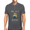 Despicable Me One In A Minion Striped Juniors Mens Polo