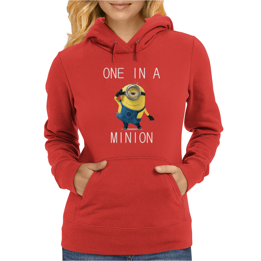 Despicable Me One In A Minion Striped Juniors Womens Hoodie