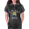 Despicable Me One In A Minion Striped Juniors Womens Polo