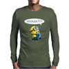 Despicable Me Whaaa Minion Mens Long Sleeve T-Shirt