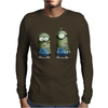 Despicable Me Zombie The Walking Dead Minions Movie Mens Long Sleeve T-Shirt