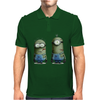 Despicable Me Zombie The Walking Dead Minions Movie Mens Polo