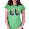 Despicable Me Zombie The Walking Dead Minions Movie Womens Fitted T-Shirt