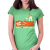 Devil Burying Dinosaur Bones Womens Fitted T-Shirt
