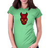 Devil Head Womens Fitted T-Shirt