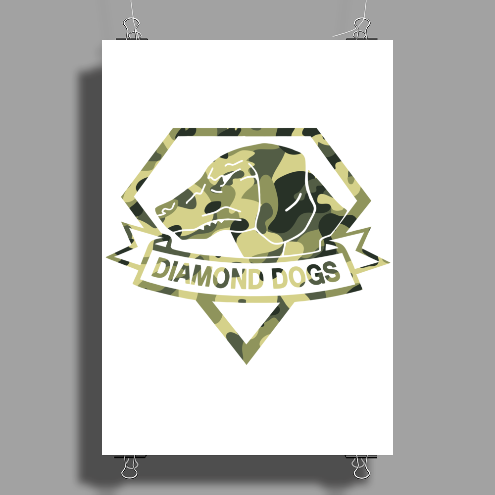 Diamond Dogs camouflage Poster Print (Portrait)