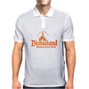 Diamond Fire Font Mens Polo