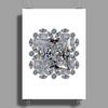 Diamond Gift Brooch Poster Print (Portrait)