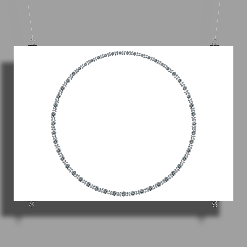 Diamond in a Circle Poster Print (Landscape)