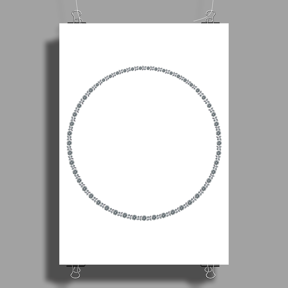 Diamond in a Circle Poster Print (Portrait)