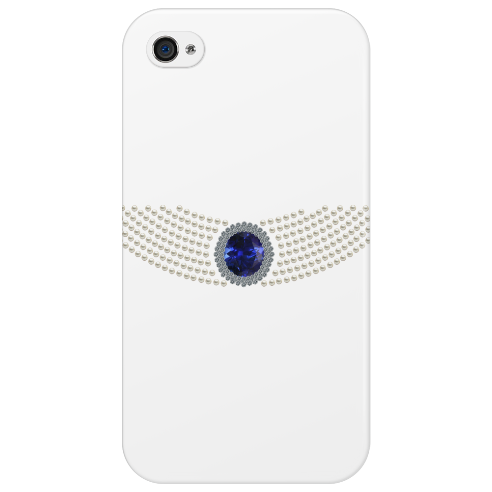 Diana's Sapphire Choker Necklace Phone Case