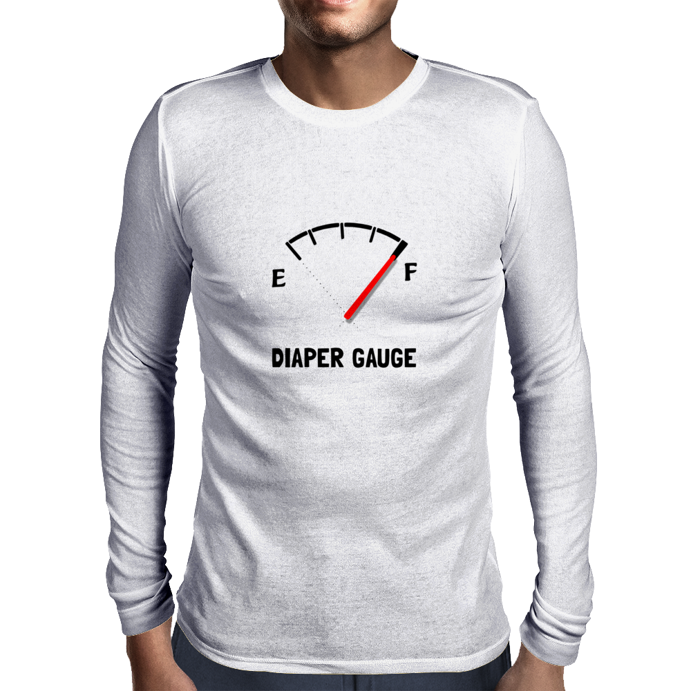 Diaper Gauge Mens Long Sleeve T-Shirt