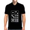 Dice Faces Indie Mens Polo
