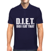 Diet  Funny Mens Polo